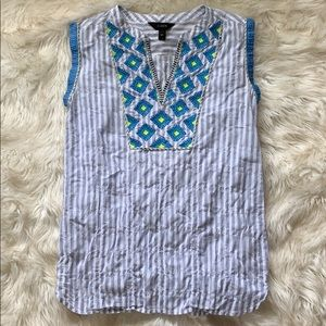 NWOT J. Crew Embroidered Tank
